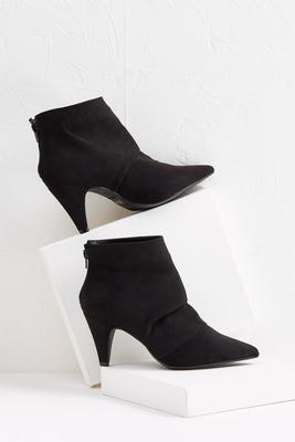 faux suede scrunch booties