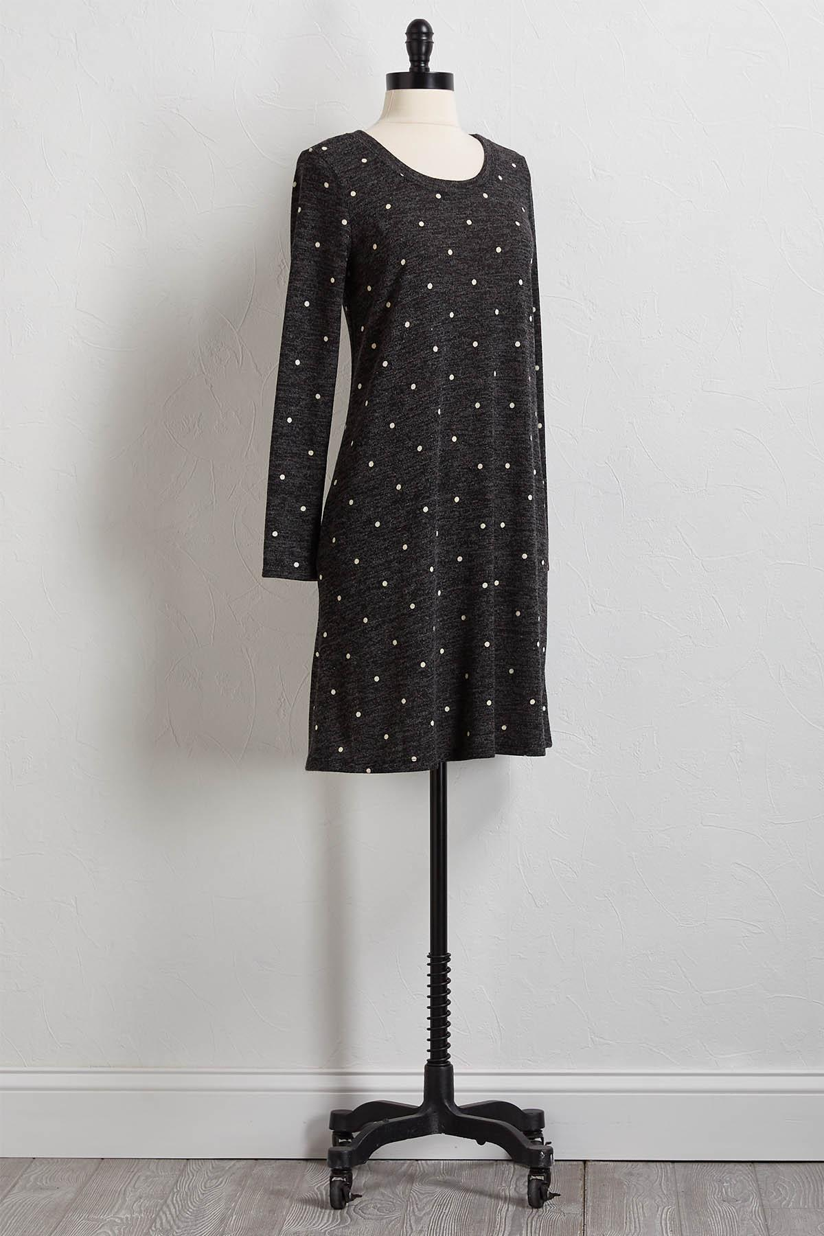 Dotted Hacci Shift Dress