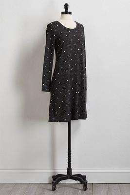 dotted hacci shift dress