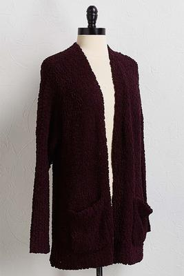 plum popcorn sweater