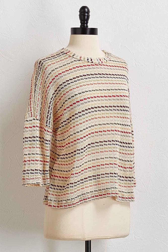 Multi Stripe Loose Knit Top