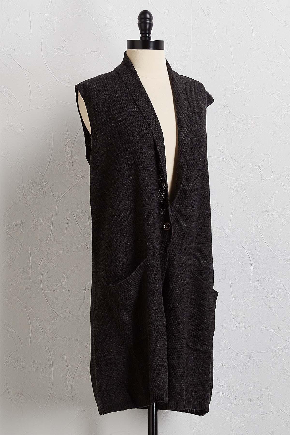 Charcoal Cardigan Sweater