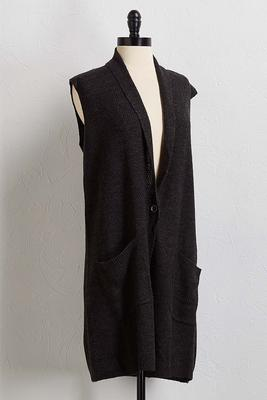 charcoal cardigan sweater