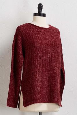 wine pullover sweater