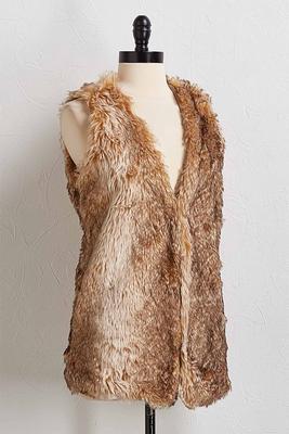 faux fur luxe vest