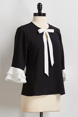 victorian ruffled sleeve top