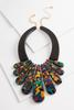 Colorful Resin Bib Necklace