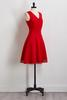 Red Crochet Trim Fit And Flare Dress