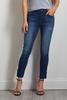 Lace Up Hem Ankle Jeans