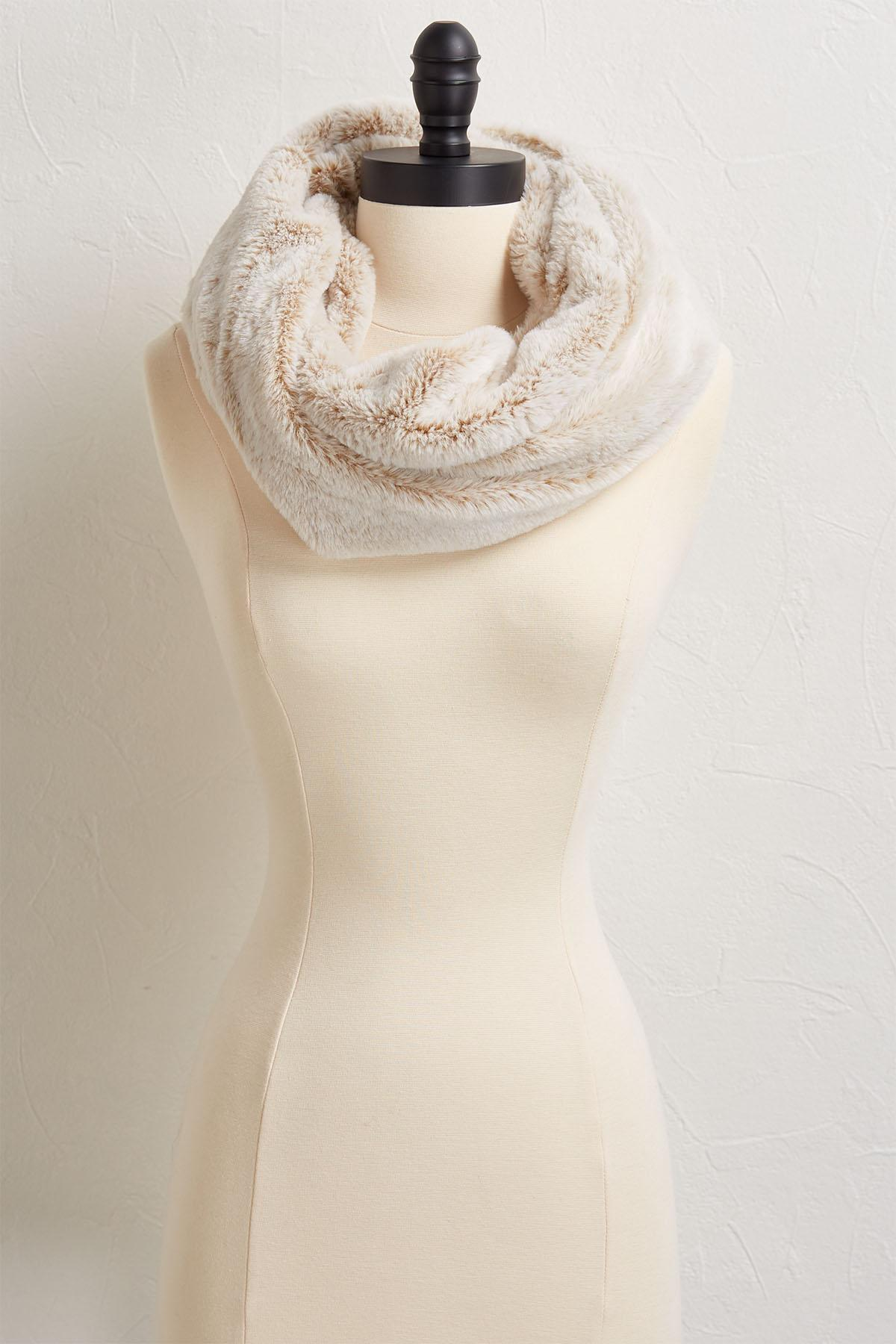 Faux Fur Cowl Neck Scarf