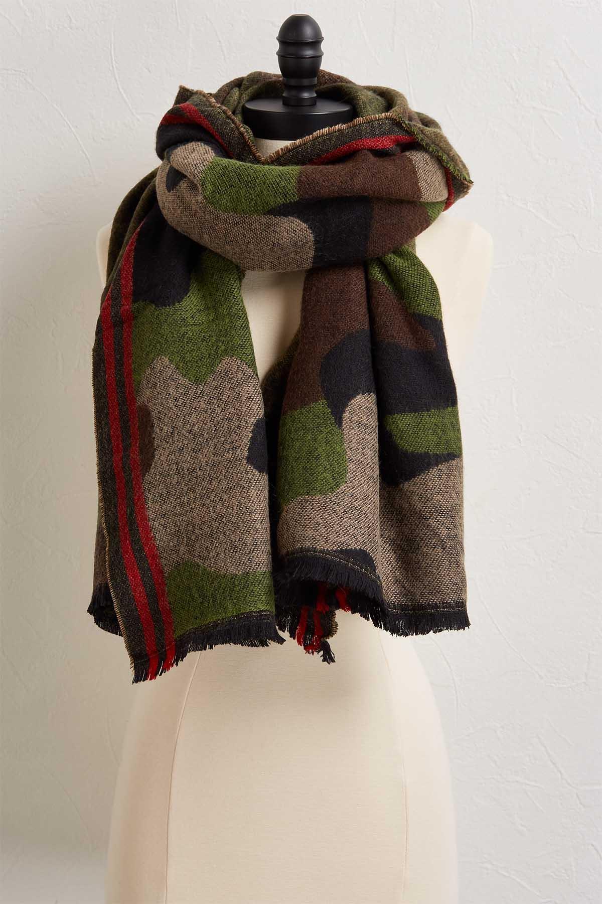 Camo Blanket Scarf