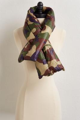 camo padded scarf