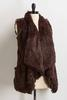 Draped Faux Fur Vest