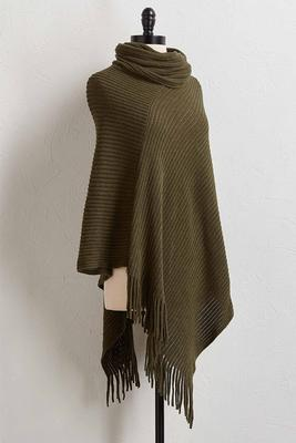 draped fringe poncho