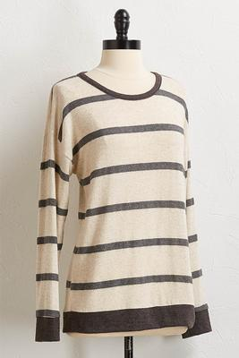 stripe hacci top