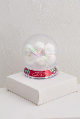 peppermint bath fizzer snow globe