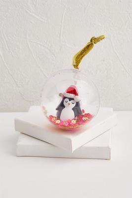 peppy penguin lip gloss ornament