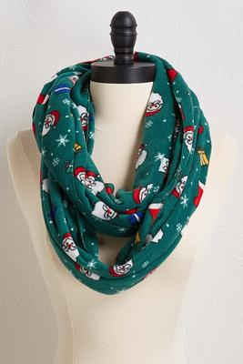 santa fleece infinity scarf