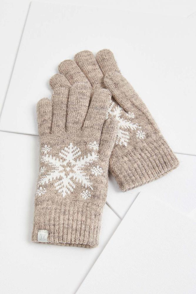 Chenille Snowflake Gloves