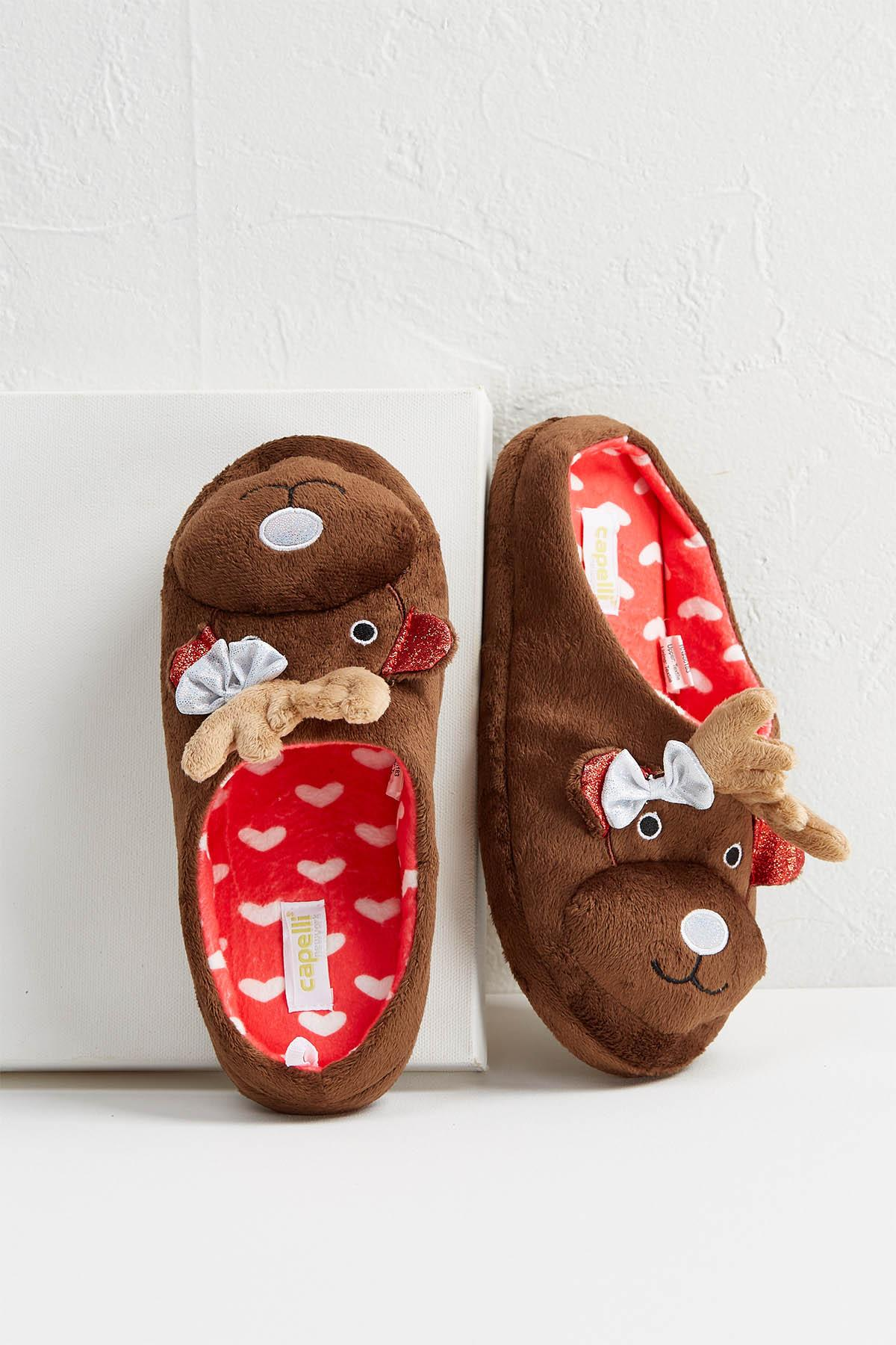 Holiday Reindeer Slippers