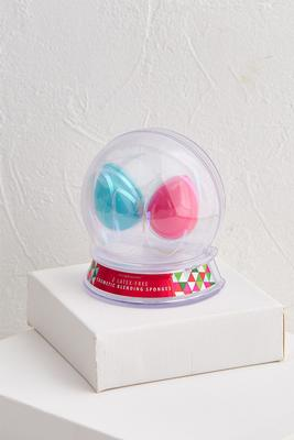 makeup blender snow globe