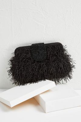 beads and frills clutch