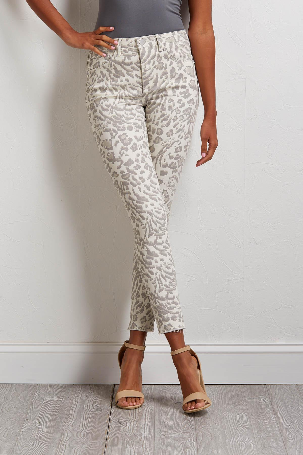 Snow Leopard Ankle Pants