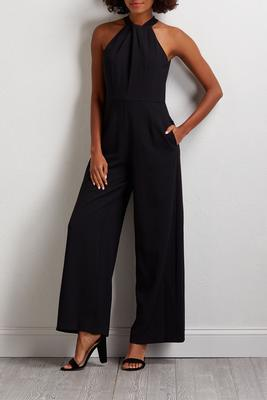 knotted keyhole jumpsuit