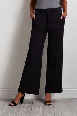 textured wide leg pants