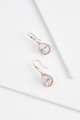 sparkling pave dangle earrings