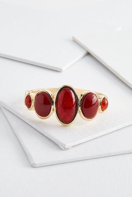 oval stone cuff