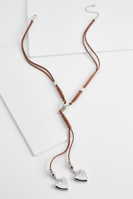 heart cord y-necklace