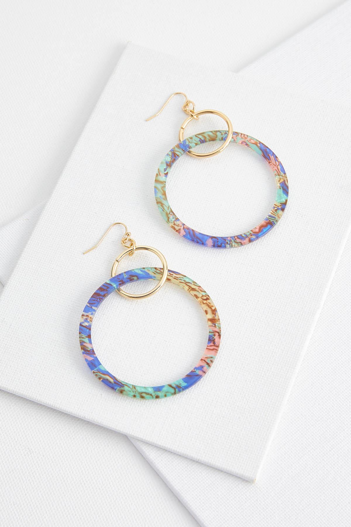 Colorful Lucite Earrings