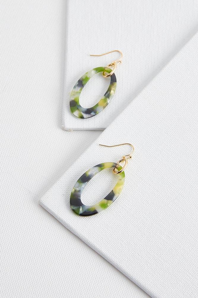 Lucite Oval Earrings