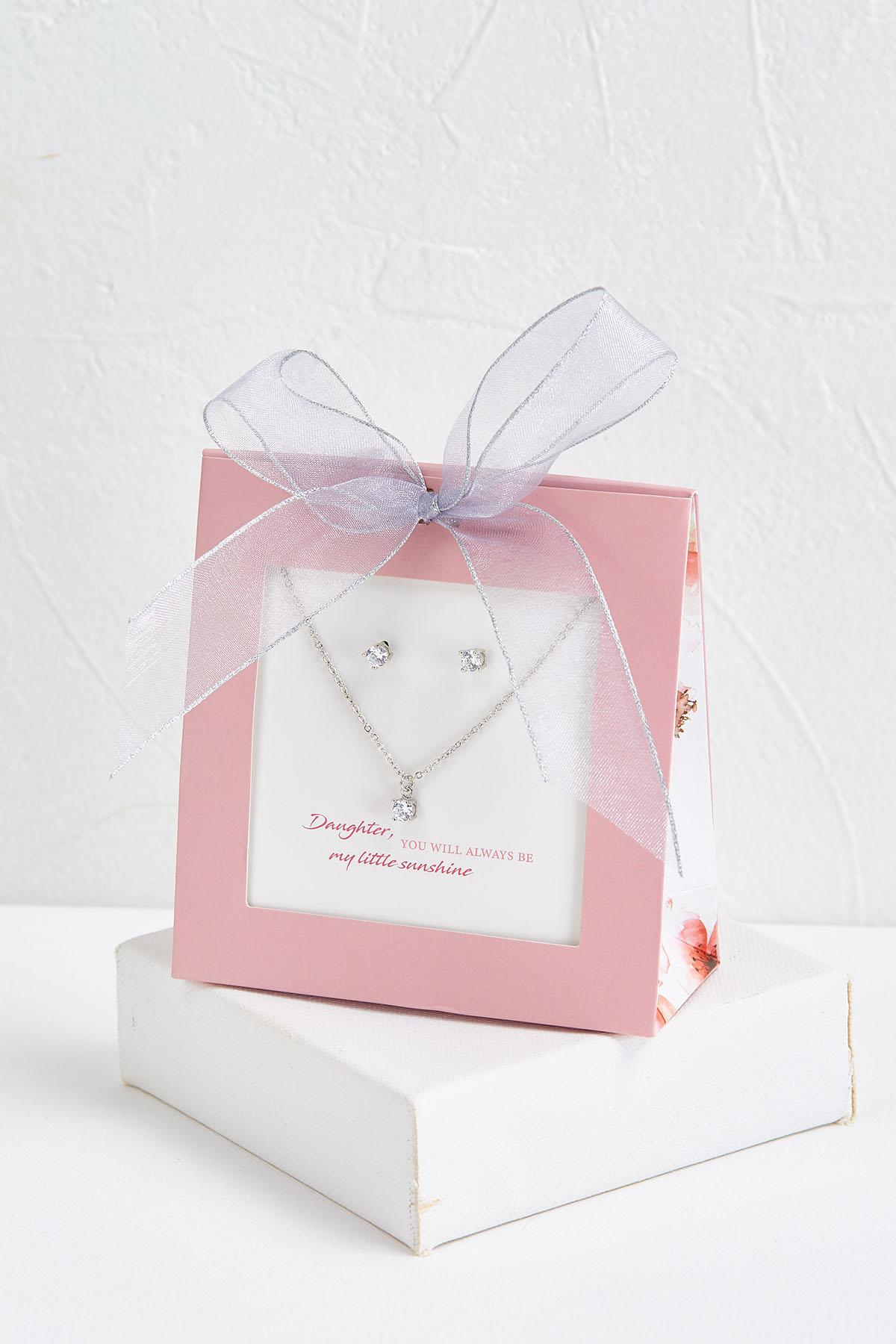 Daughter Necklace And Earring Set