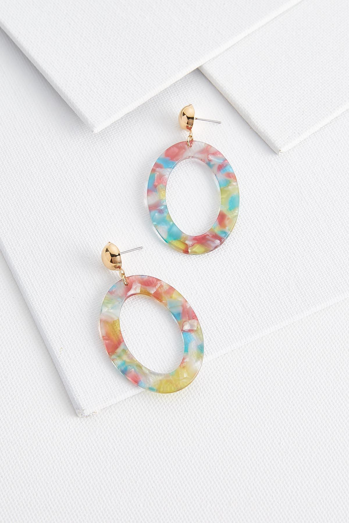 Oval Lucite Earrings