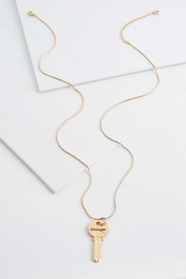 stronger key pendant necklace