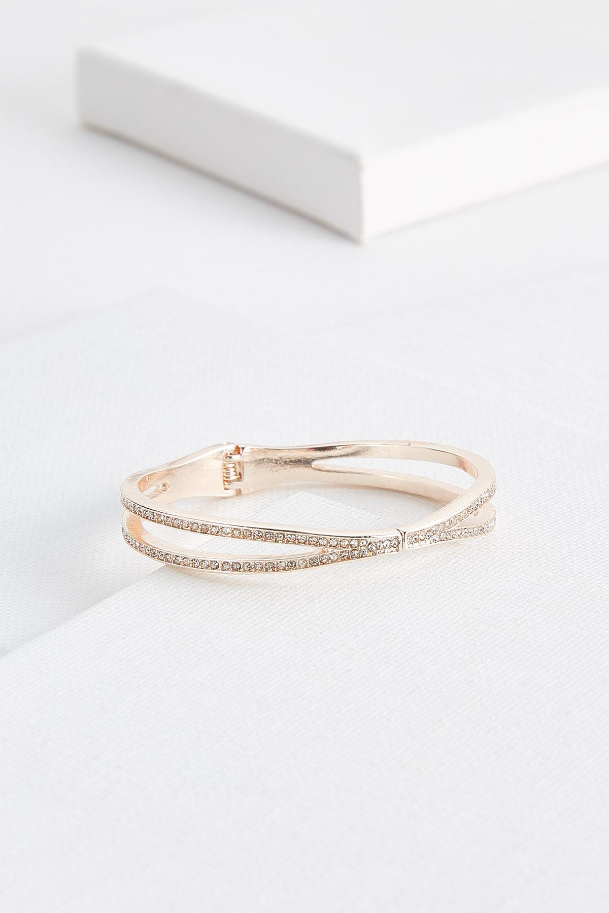 Linked Double Bar Pave Bracelet