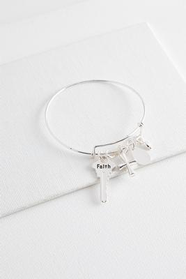 faith bangle bracelet
