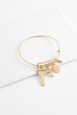 stronger charm bangle bracelet