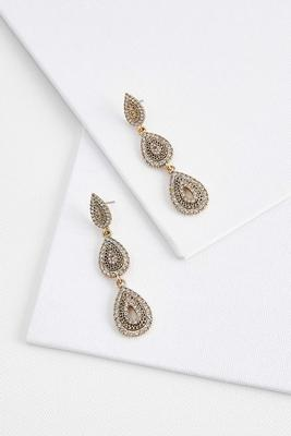 tear shaped chandelier earrings