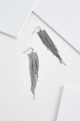 chain tassel statement earrings