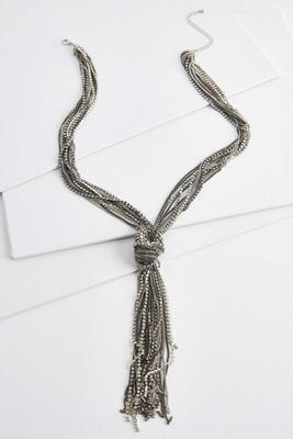 rhinestone chain tassel y-necklace