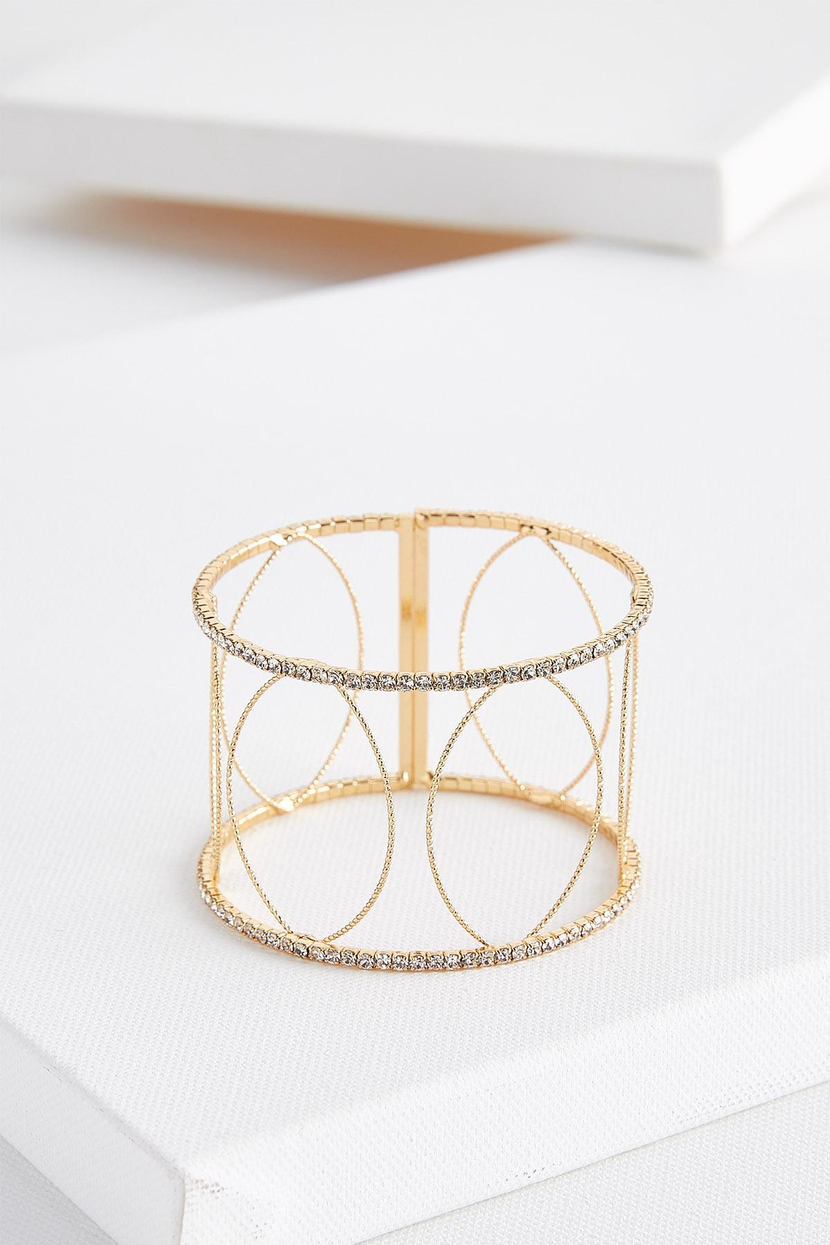 Delicate Rhinestone Cuff Bracelet