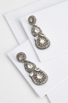 sparkling statement earrings