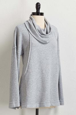 solid cowl neck tunic