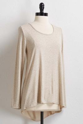 woven panel back top