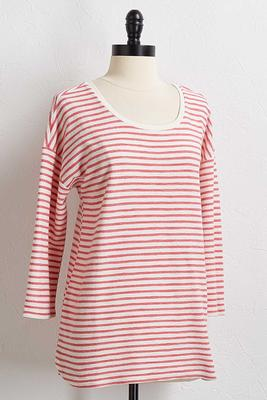 rose textured stripe top