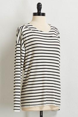 brushed stripe tunic