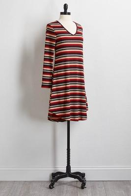 multi stripe hacci dress